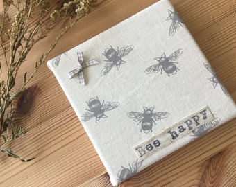 Upholstered Cute little Bumble Bee Canvas - country style- handmade- perfect for a welsh dresser- great gift