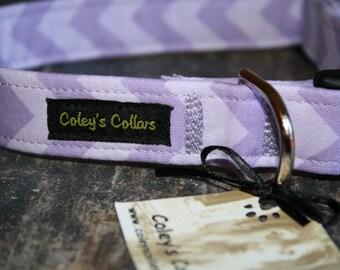 "Dog Collar ""The Chevron in Purple"""
