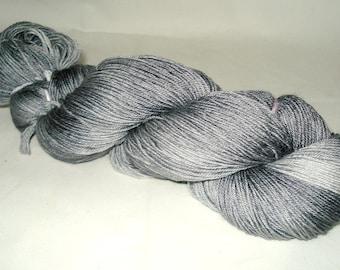 Silver/Gray Tonal Umpqua Hand Dyed Fingering Weight Sock Yarn 4 oz  433 yards