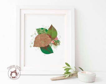 Duende Ké - Limited Edition - Baby Decor Whimsical wall art - Nature wall art - Home Decor wall art print