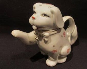Vintage Puppy Imari CHINA Tea Pot  - Lovely Gift for someone special !!!