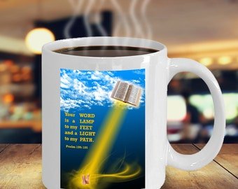 Your Word Is A Lamp To My Feet And A Light To My Path Christian Gift Mug