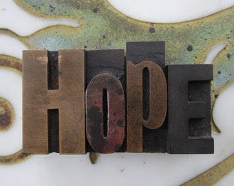 HOPE Letterpress Wood Type Printers Blocks