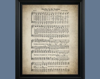 Standing on the Promises Hymn Print - Sheet Music Art - Hymn Art - Hymnal Sheet - Home Decor - Music Sheet - Print - #HYMN-P-010