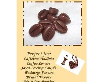 20 Coffee Bean Soap Favors, Coffee Bean Favor, Caffeine Addict Favors, Java Loving Couple Favors, Coffee Soap Set, Soap Favors