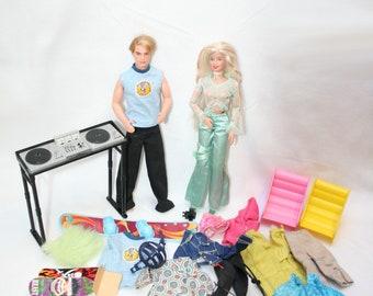 Generation Girls Ken + Barbie + clothes + shoes + accessoires