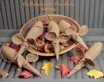 Halloween Rats Olde Cupboard Tucks or Bowl Filler Instant Digital Download E-Pattern ET