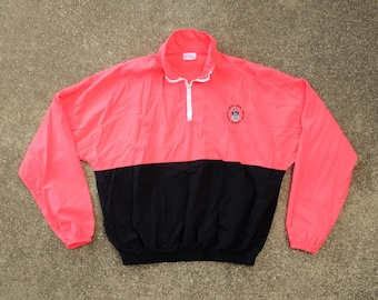 90s Olympics Windbreaker XL - USA Olympic Training Center Pullover Windbreaker Men's Extra Large - Hot Pink Windbreaker - Neon Pink Jacket