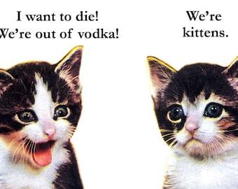 Vodka Kittens - Magnet - Humor - Gift - Stocking Stuffer - Cat - Alcohol
