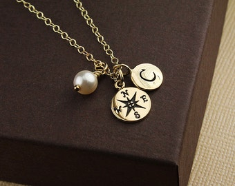Going away gift goodbye gift moving gift farewell gift going away gift for coworker going away gift for friend compass necklace personalized