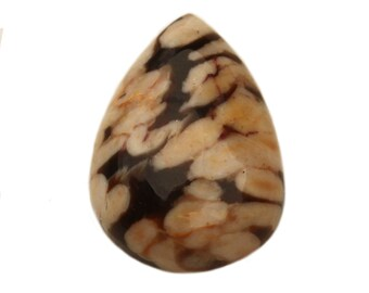 Peanut Wood Jasper Pear-Shaped Cabochon for Determination and Perseverance