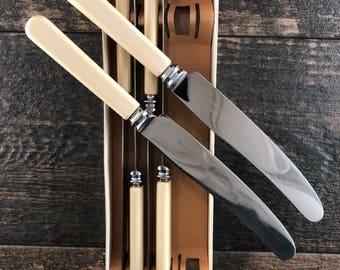 Sheffield England Butter Knifes, Ivory/Cream Handle, Set of 6