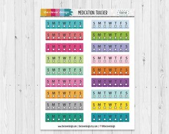 Medication Tracker Planner Stickers (17207-01)
