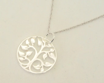 Sterling silver tree of life necklace, Mothers Day, Nature Tree Pendant, Perfect birthday Gift, Bride, Anniversary, Baby Shower, New Mom