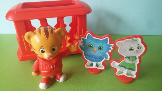 Daniel Tiger Cake Topper PBS Kids includes Trolley Katerina