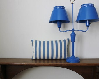 Double Shade Blue Lamp