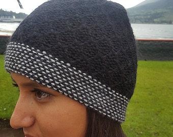 Alpaca Beanie or Alpaca Hat Black