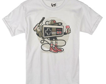 Retro Gamer Lets Play Controller Men's T-Shirt (SB1066)
