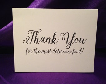 Wedding Cards For Wedding Caterer - Thank You For The Most Delicious Food!