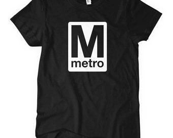 Women's Washington DC Metro T-shirt - S M L XL 2x - Subway - Ladies DC Shirt - 3 Colors