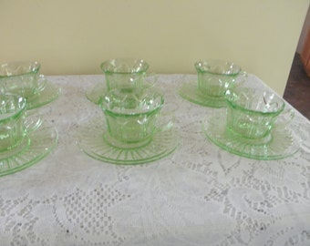 Colonial Knife and Fork Cups and Saucers - Set of Six