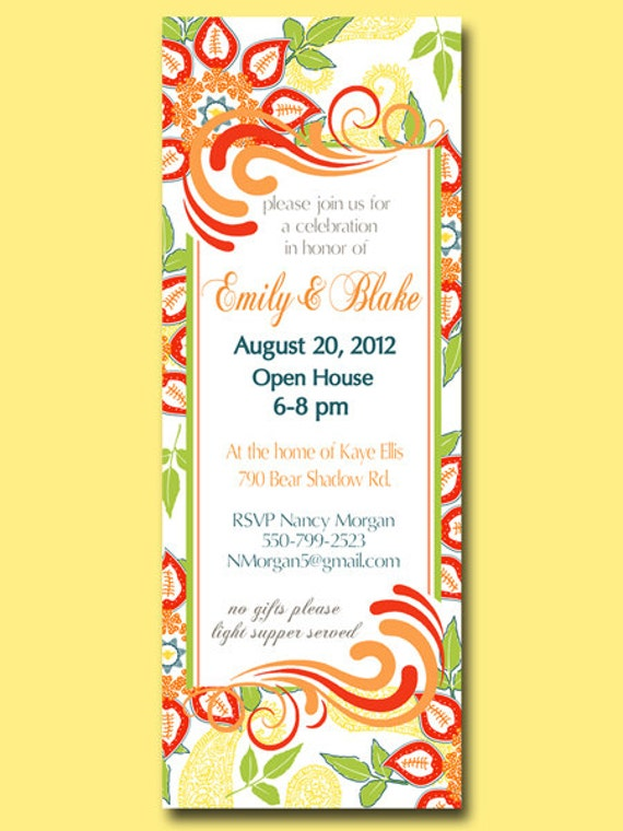 Printable custom invitation for any occasion shower open like this item stopboris