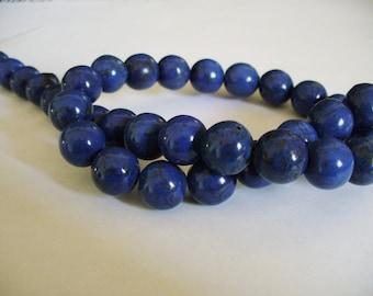 Magnesite Beads Dark Blue Round 12MM