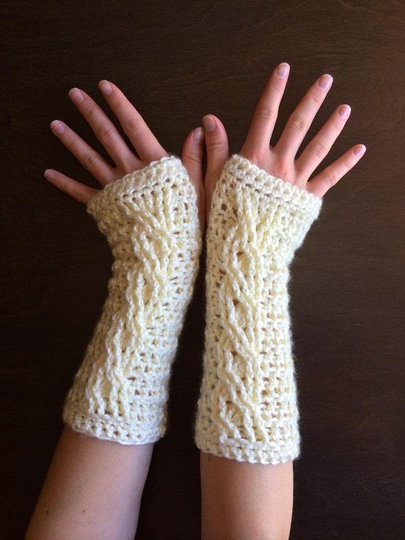 Crochet Fingerless Glove Pattern - Fireside Fingerless Gloves ...