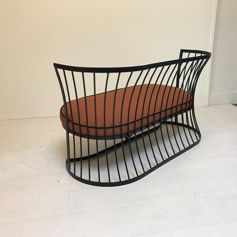 Thinline Outdoor Loveseat Mid Century Modern Patio Furniture