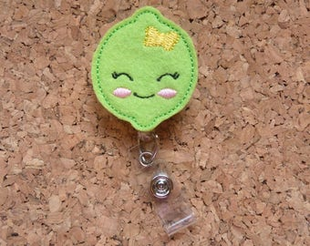 LIME Badge Reel, Fruit ID Badge Reel, Felt Badge Reel, Retractable ID Name Holder, Nurse Badge Reel, Teacher Gift, 1336