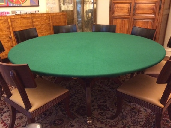 Fitted Felt Poker Table Cloth   Elastic Edge   Majhong, Bridge, Dice Game  Table Covers   Made To Order Upon Order