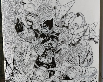 Wolverine blank sketch cover drawing