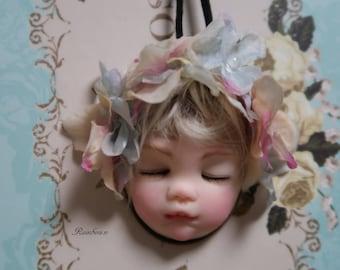 Flower Fairy ooak pendant by Rainbow.n