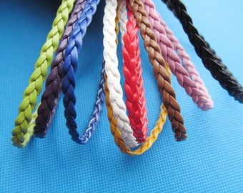 5mm 35 Colors Flat Faux Braid Leather Cords String Rope,Jewelry Beading String,Bracelet & Necklace Cord,DIY Jewelry Accessory