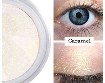 Ivory Eyeshadow, Pure Natural Color, Pale Gold Shimmer, For Eyes, Loose Powder, Blends Easily, Lush Rich Pigment, Creamy Color, CARAMEL