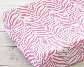 25% off SALE- Zoes Zebra Changing Pad Cover