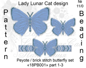 Peyote butterfly, Peyote pattern, Blue peyote, Summer peyote, Insects peyote, Brick stitch pattern, Colorful peyote, Peyote stitch, Beading