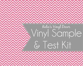 Vinyl Sample and Test Kit-Vinyl Wall Decal-Vinyl Wall Decor