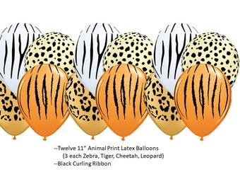 Animal Print Latex Balloons