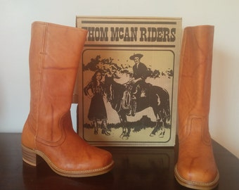 NEW, Vintage THOM McAN Leather Riding Boots Womens Size 10
