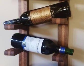 Exotic 4 Bottle Falling Wine Rack