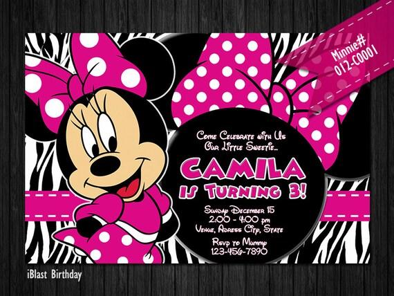 COSTUMBRE invitar a Minnie Mouse para cumpleaños de Minnie