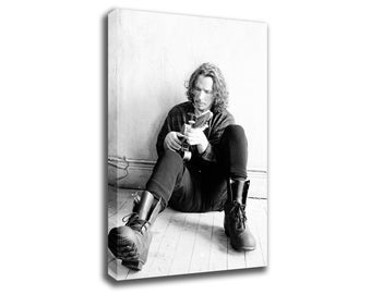 Chris Cornell Soundgarden Legend Retro Art Print Poster Canvas/Glossy HD Canvas, Gallery Wrap Or Glossy Poster