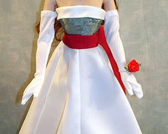 15-16 Inch Fashion Doll Clothes - Merry Christmas Darling Evening Gown made by Jane Ellen to fit 15-16 inch fashion dolls