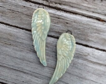 Angel Wing Ceramic Earring Set