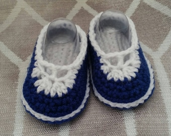 Crochet T-Strap Mary Janes - Infant - Baby