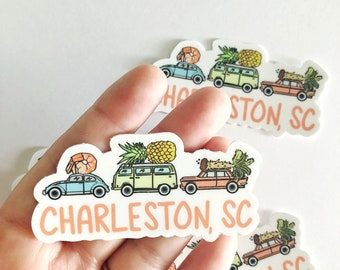 Charleston sc etsy charleston vinyl sticker charleston sticker charleston gift funny vinyl stickers cute vinyl stickers funny sticker charleston sc negle Gallery