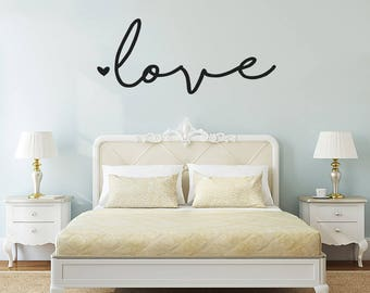 "Love, Wall Decal, Bedroom Decor, Love Wall Sticker, Living Room Wall Decals, 54""X24"", Love Decal, Lettering Wall Decal, Love Wall Decor, 372"