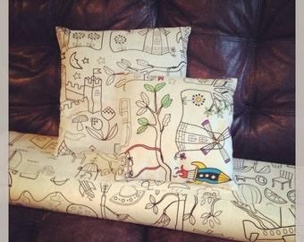 Colouring Book Cushion