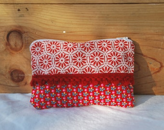 cosmetic case red